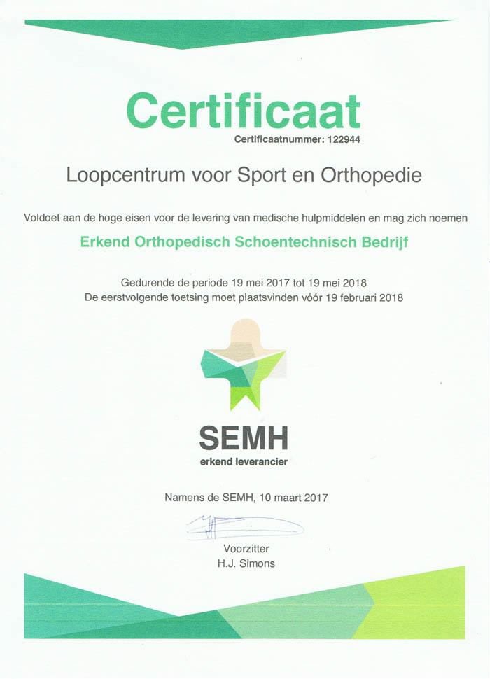 SEMH certificaat 2017 web