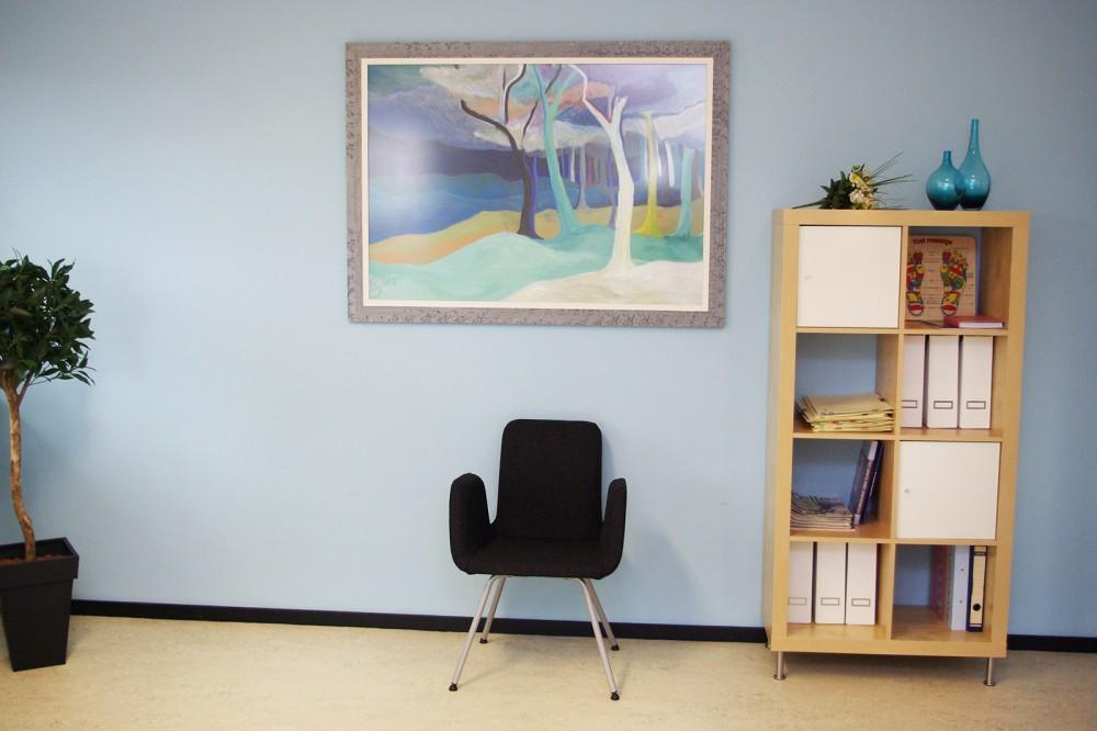 Reflexologie behandelruimte - stoel